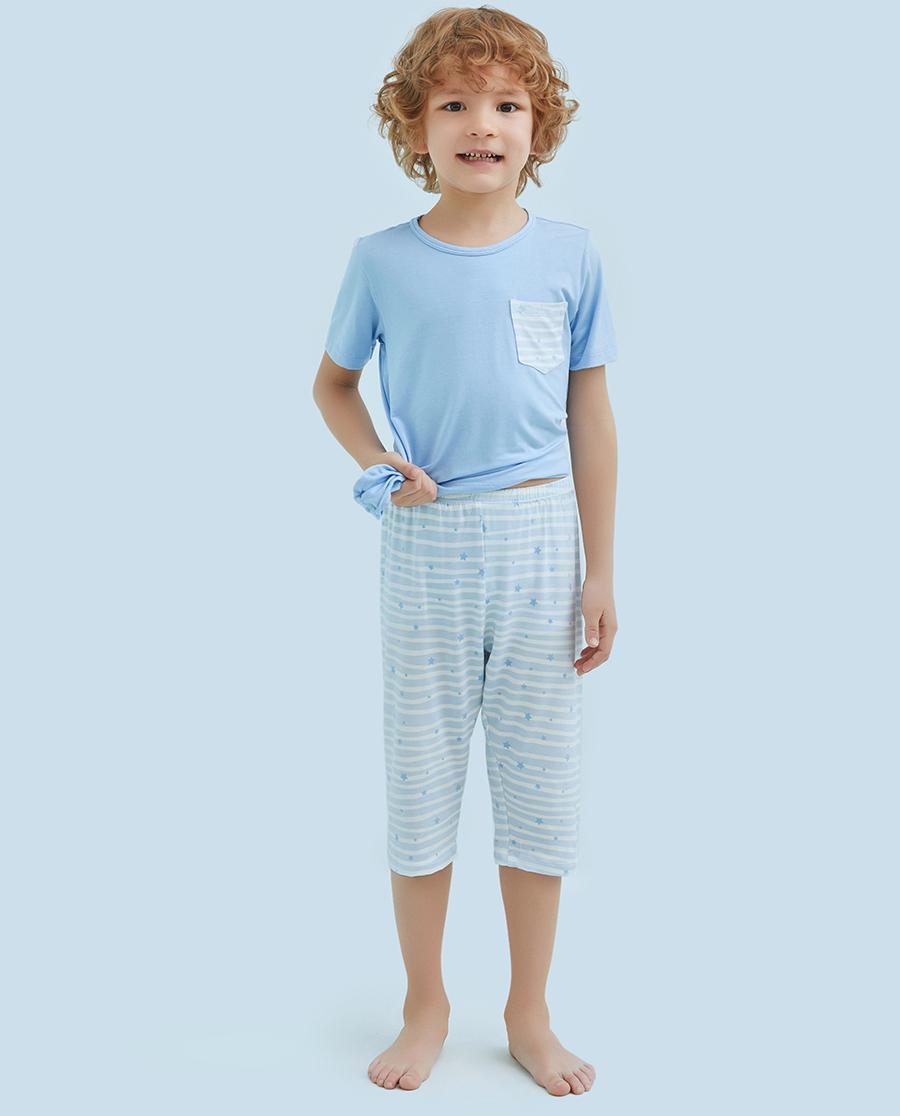 Aimer Kids睡衣|爱慕儿童飞天环游记七分裤AK2421012