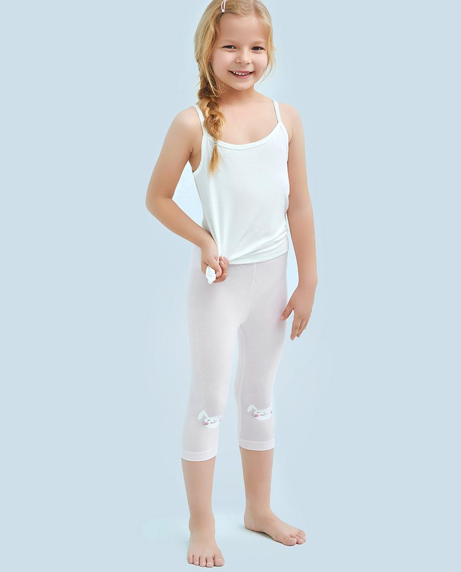 Aimer Kids睡衣|爱慕儿童印花打底裤爱兔儿女童七分打底裤AK1821514