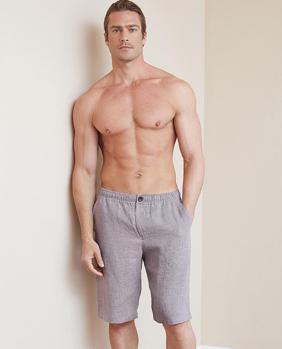 Aimer Men睡衣|爱慕先生亚麻印象短裤NS82B992