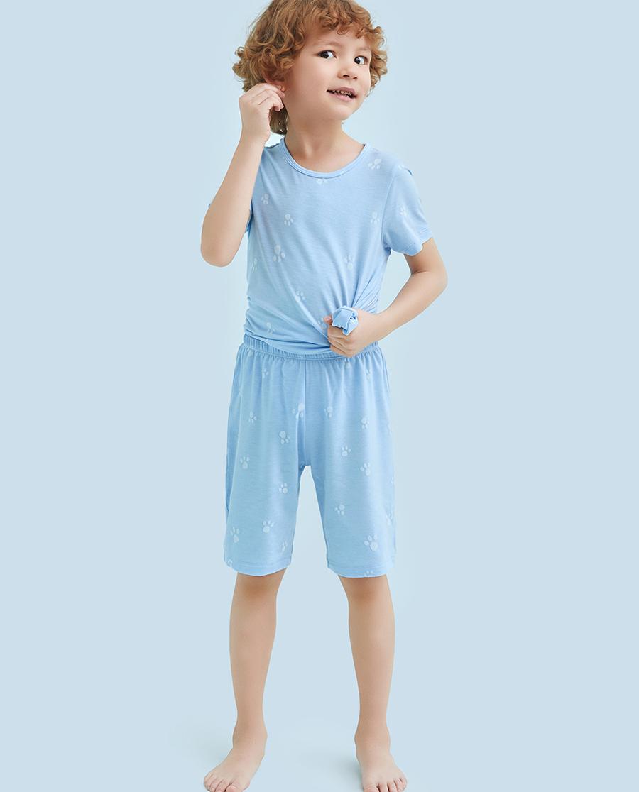 Aimer Kids睡衣|爱慕儿童萌萌爪印男童五分裤AK24211