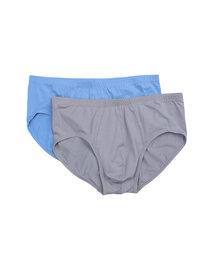 爱慕先生自然棉中腰三角内裤两件包NS22C241