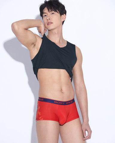 Body Wild内裤|宝迪威德低腰炫彩Ⅱ装腰平角裤ZBN23MP1