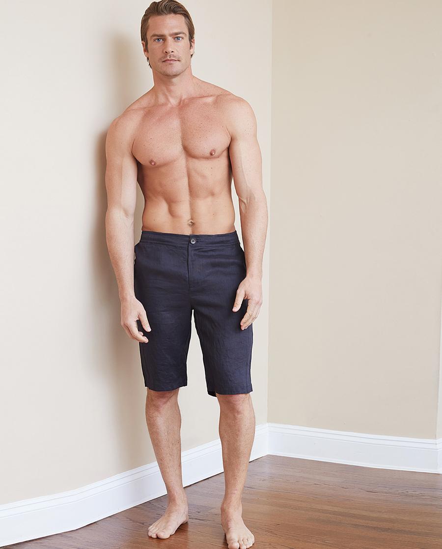Aimer Men睡衣|爱慕先生冰丝亚麻短裤NS82B632