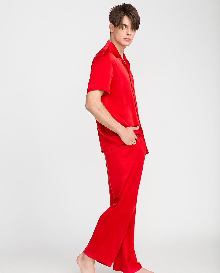 imi's睡衣|爱美丽IM辛德瑞拉男式短袖上衣长裤分身套装IM46ASF1