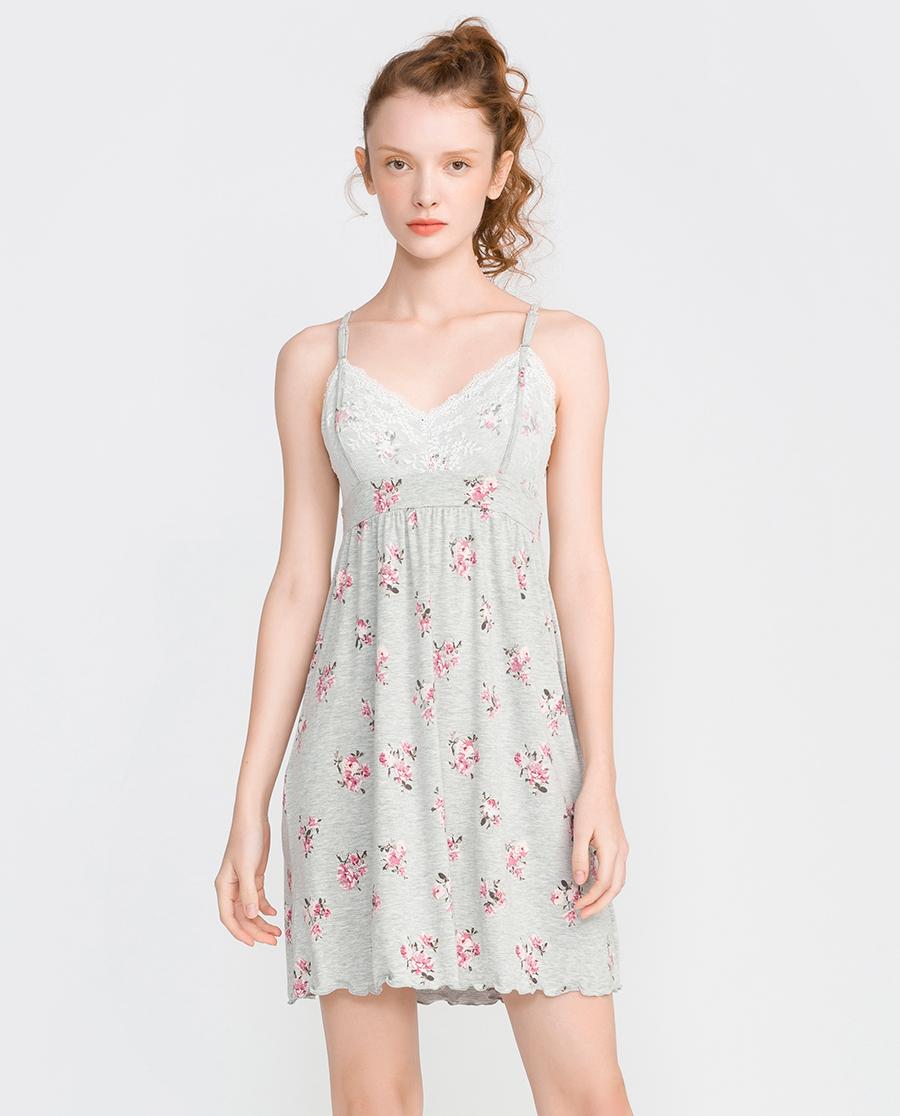imi's睡衣|爱美丽家居爱的目的地莫代尔带杯吊裙IM42ASM1