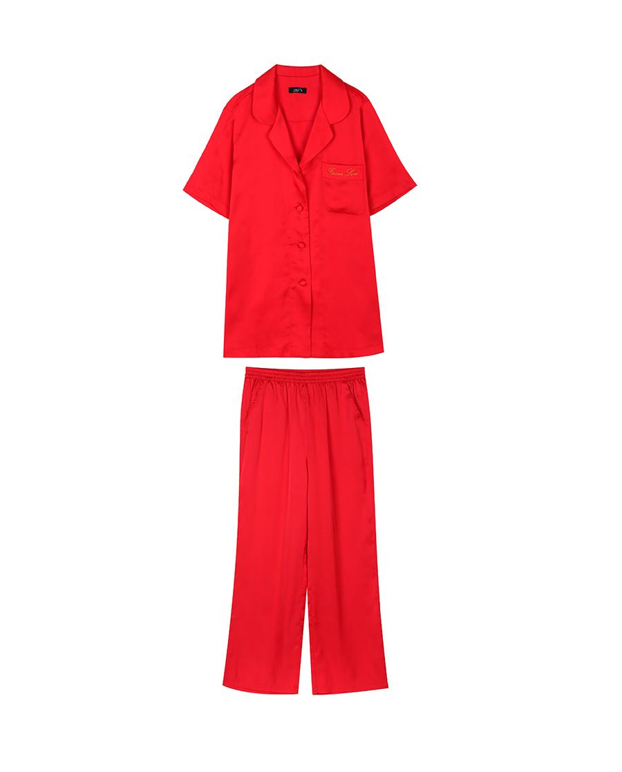 imi's睡衣 爱美丽IM辛德瑞拉女式短袖上衣长裤分身套装IM46ASF2