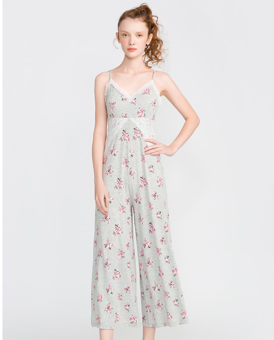 imi's睡衣|爱美丽家居爱的目的地莫代尔带杯吊带连体长裤IM43ASM1
