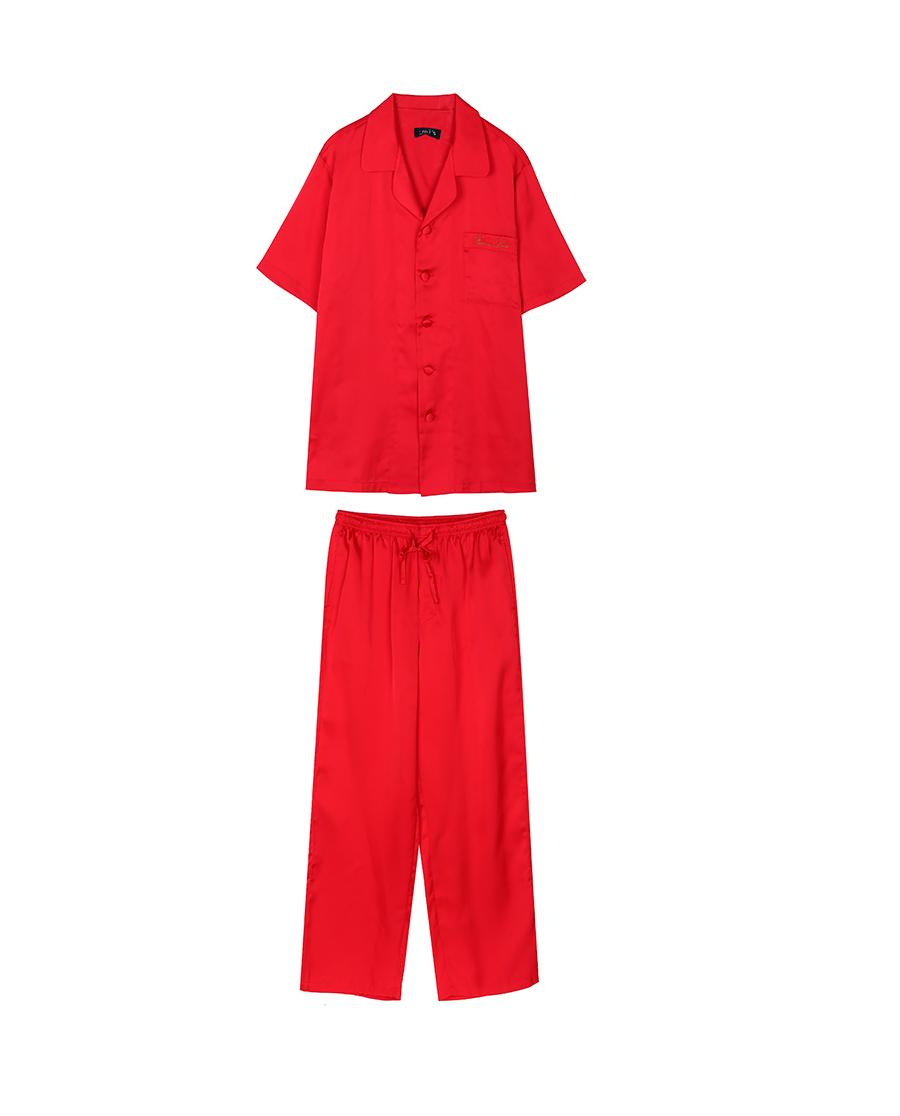 imi's睡衣|爱美丽IM辛德瑞拉男式短袖上衣长裤分身套