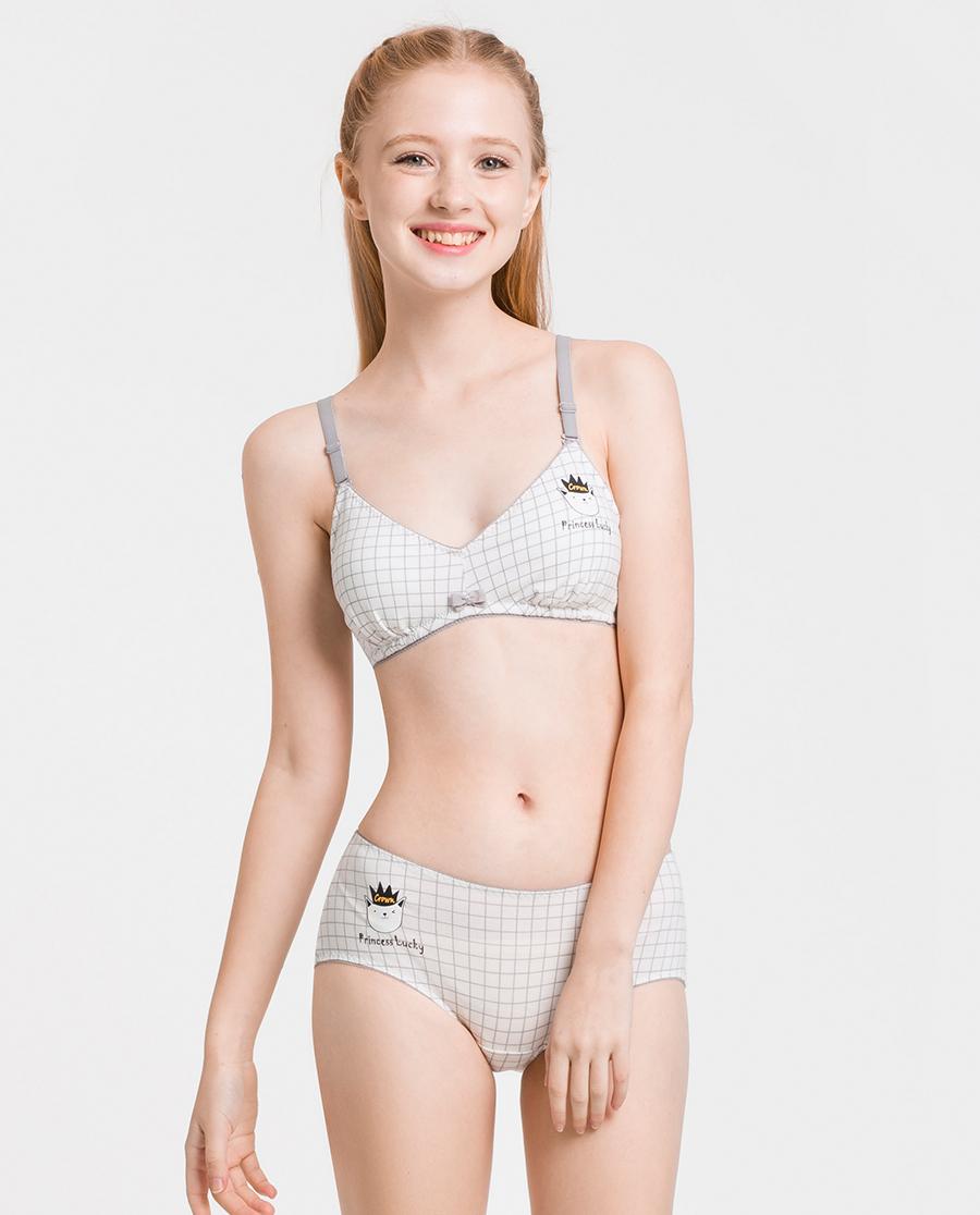 imi's内裤|爱美丽Teen-格子猫手账低腰平角裤IM23ARC1