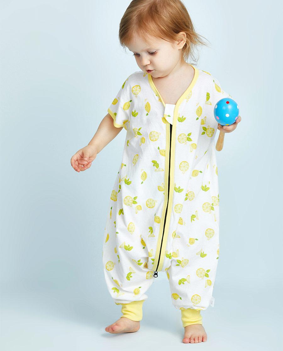 Aimer Baby睡衣|爱慕婴幼快乐柠檬女婴幼连体无袖分腿睡袋AB1451051