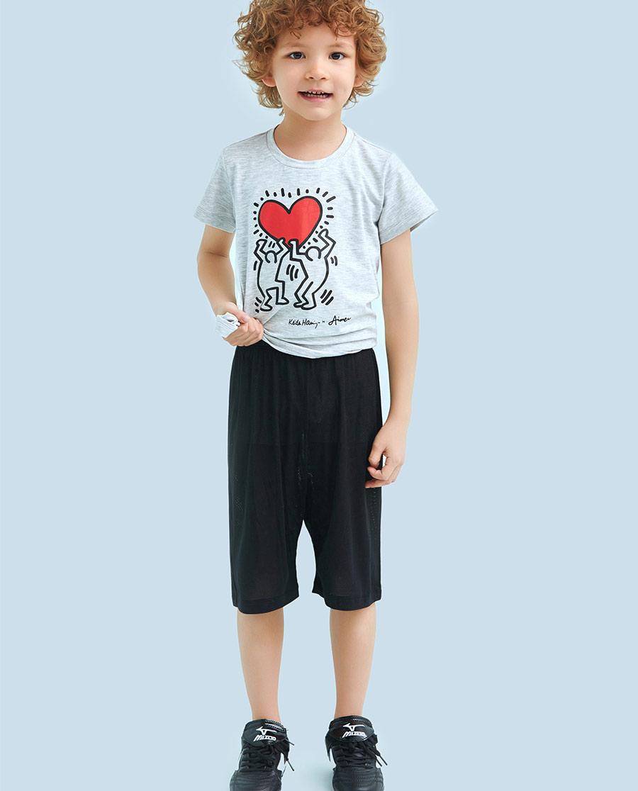 Aimer Kids睡衣|ag真人平台儿童酷爽网眼五分裤AK282F32