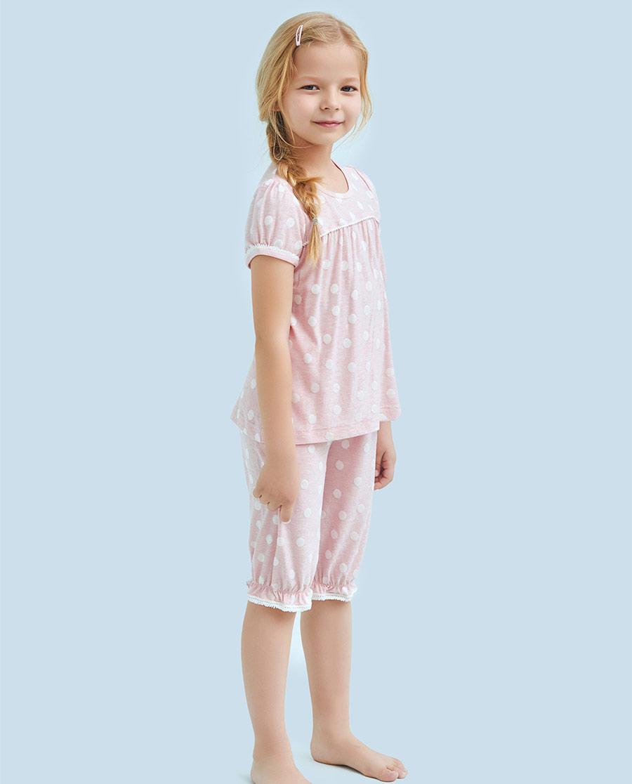 Aimer Kids睡衣|爱慕儿童可爱宝贝七分裤AK1421021