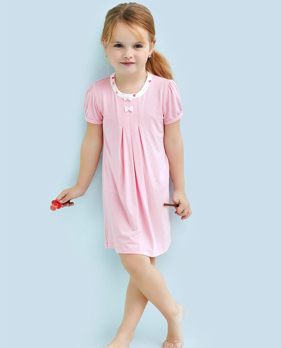 Aimer Kids睡衣|爱慕儿童甜心女孩家居短袖睡裙AK1441272