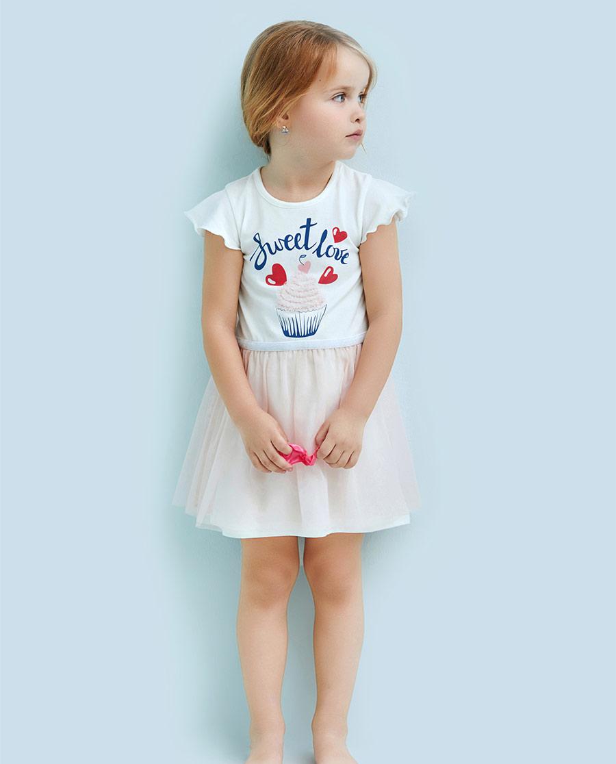 Aimer Kids睡衣|爱慕儿童爱的冰激凌短袖连衣裙AK1831591