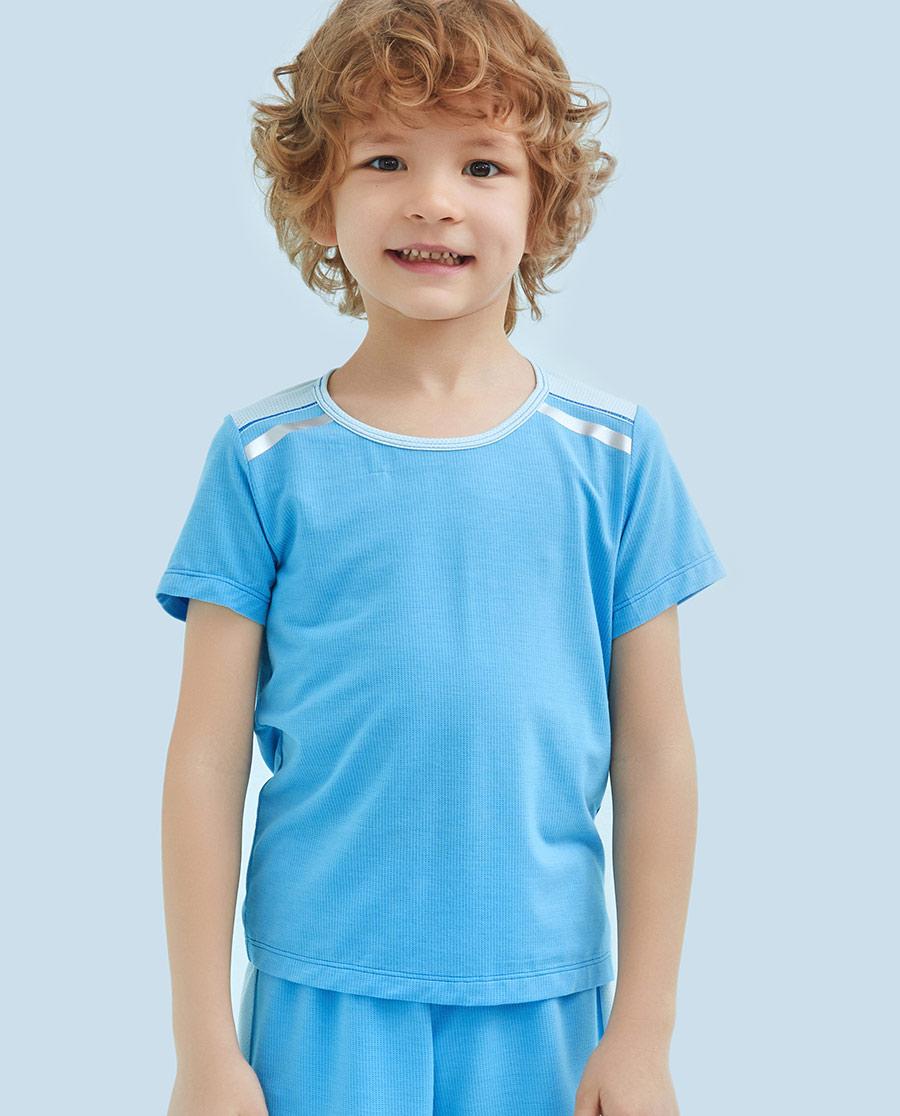 Aimer Kids睡衣|爱慕儿童嗨酷运动短袖上衣AK281146