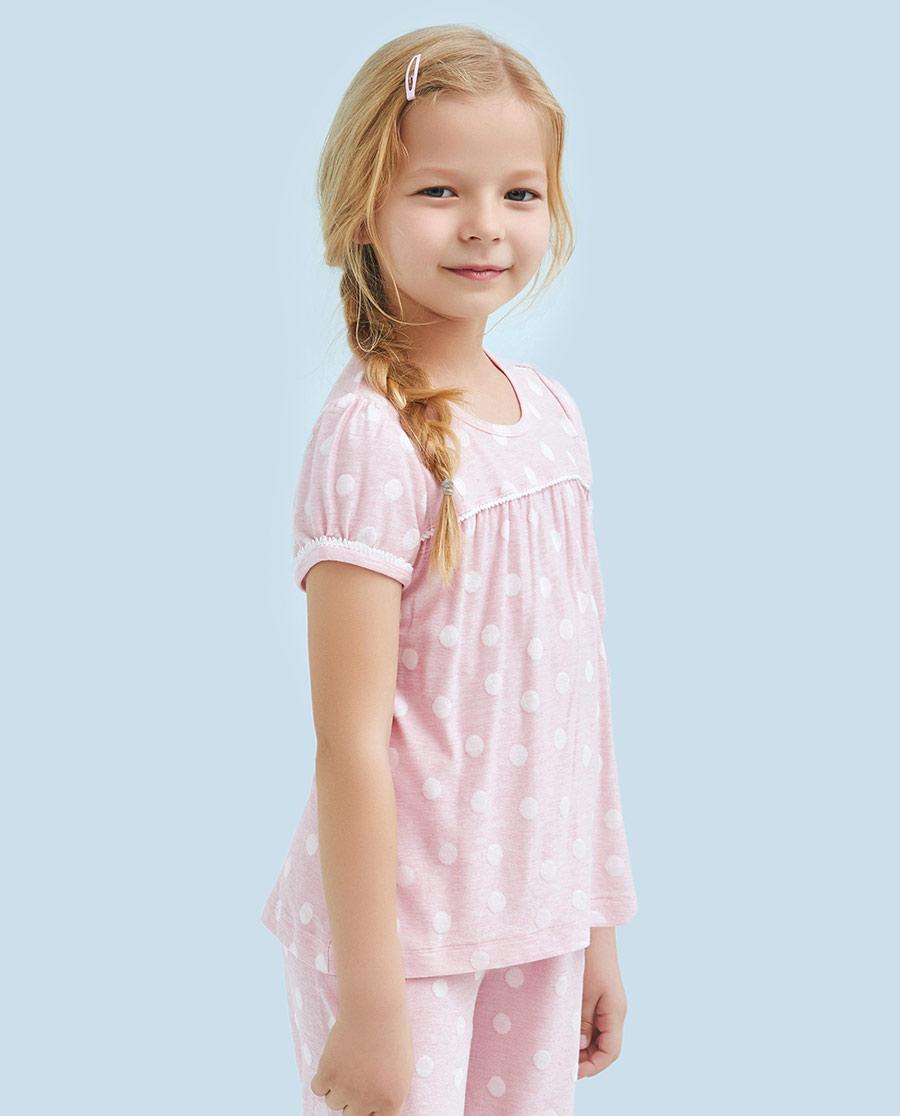 Aimer Kids睡衣|爱慕儿童可爱宝贝短袖上衣AK1411021
