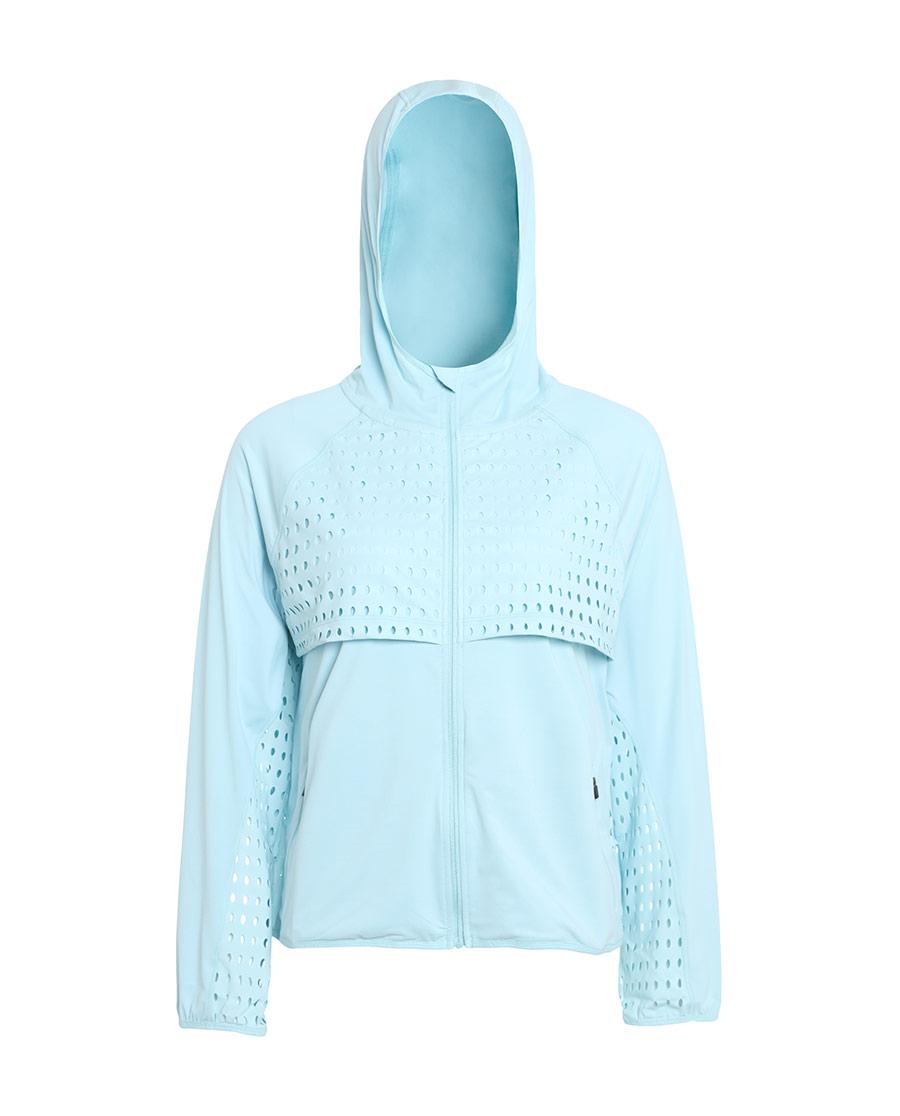 Aimer Sports睡衣|愛慕運動夏練II后背鏤空帶帽拉鏈外套AS
