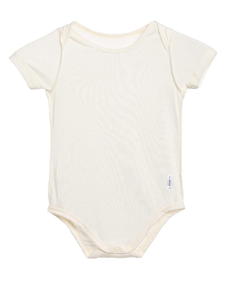 Aimer Baby保暖|爱慕婴儿丝滑宝贝短袖无腿连体爬服AB37