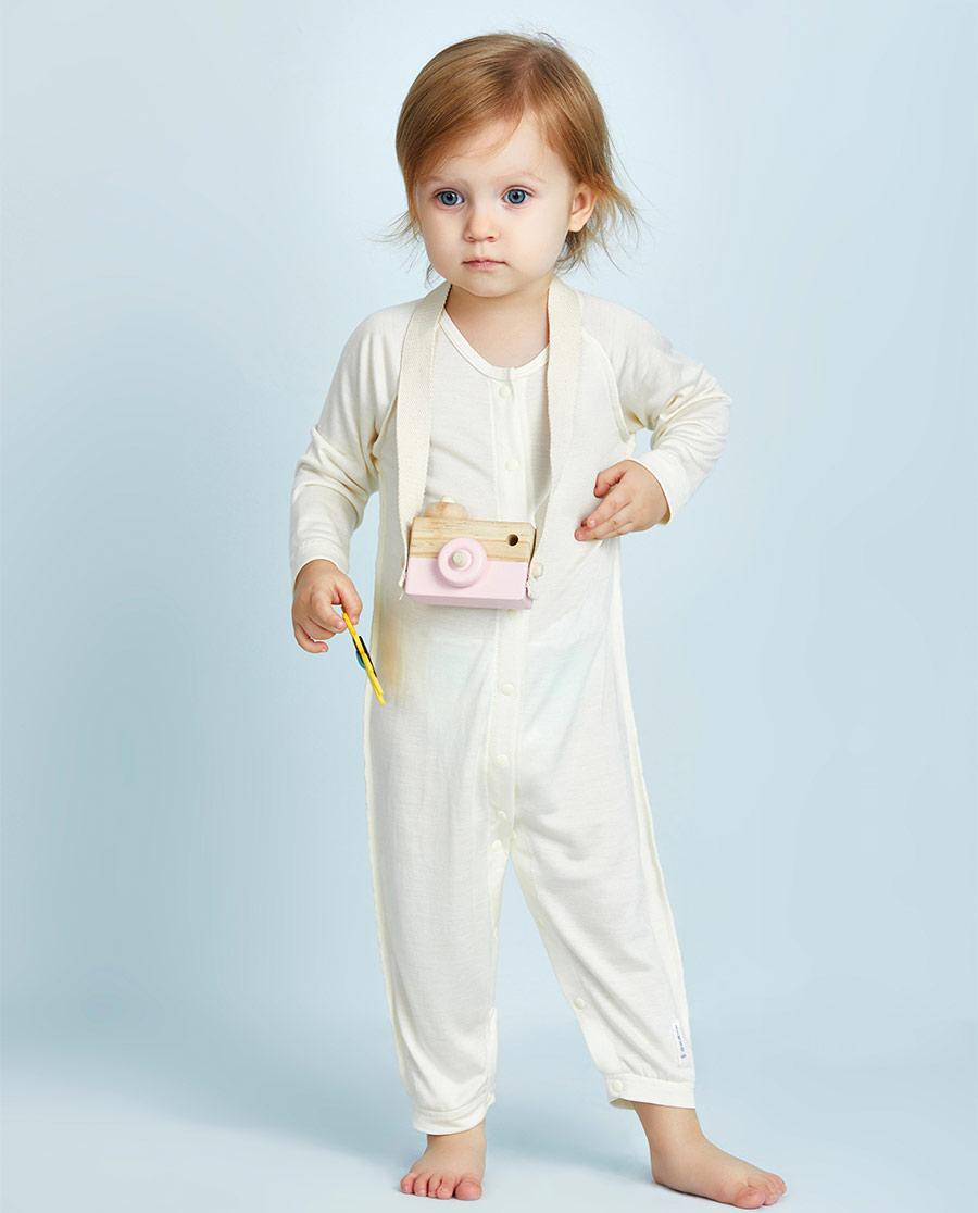 Aimer Baby保暖|爱慕婴幼丝滑宝贝长袖连体爬服AB3751