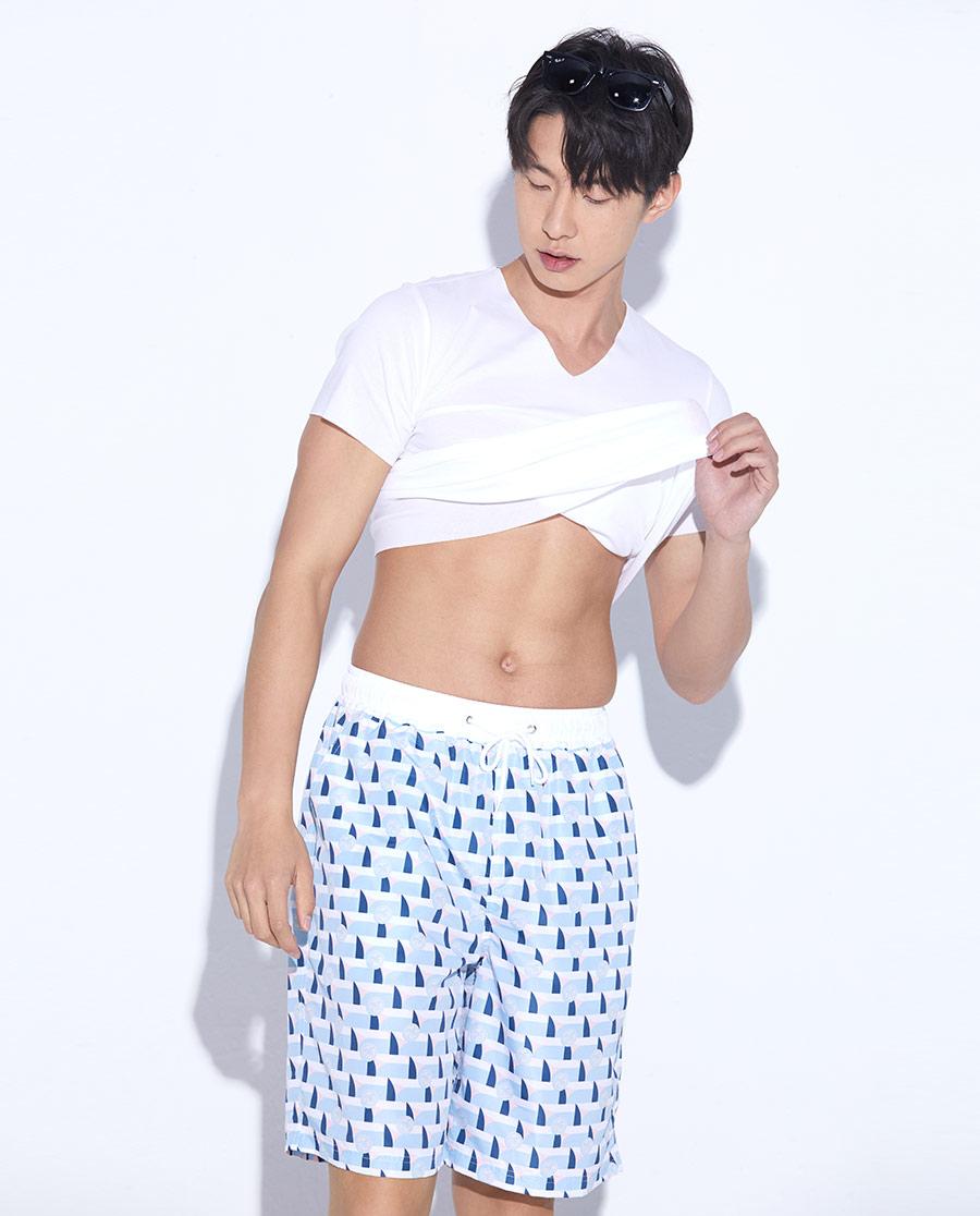 Body Wild睡衣|寶迪威德波光淡彩沙灘褲ZBN82NB1