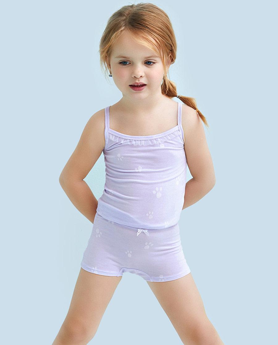 Aimer Kids內褲|愛慕兒童萌萌爪印中腰平角內褲AK1231
