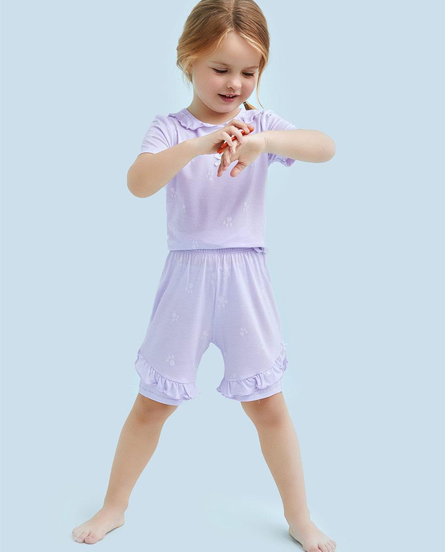 Aimer Kids睡衣|愛慕兒童萌萌爪印五分褲AK1421151