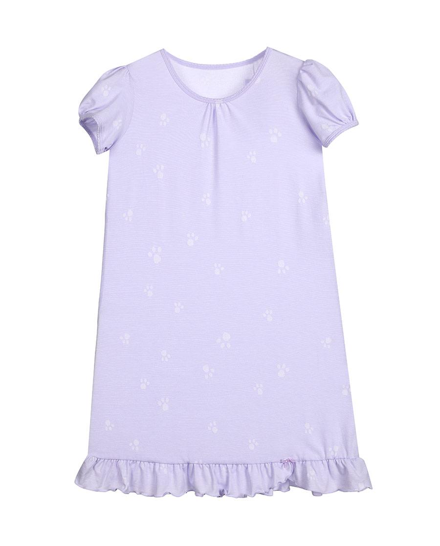 Aimer Kids睡衣|愛慕兒童萌萌爪印短袖睡裙AK144115