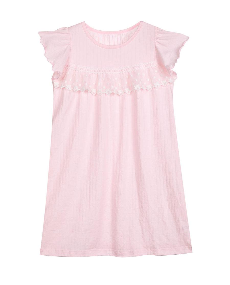 Aimer Kids睡衣|愛慕兒童蕾絲鈴蘭短袖睡裙AK144080