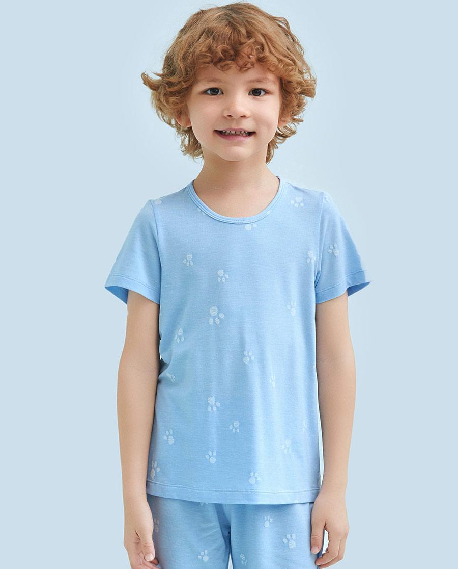 Aimer Kids睡衣|爱慕儿童萌萌爪印短袖上衣AK241115