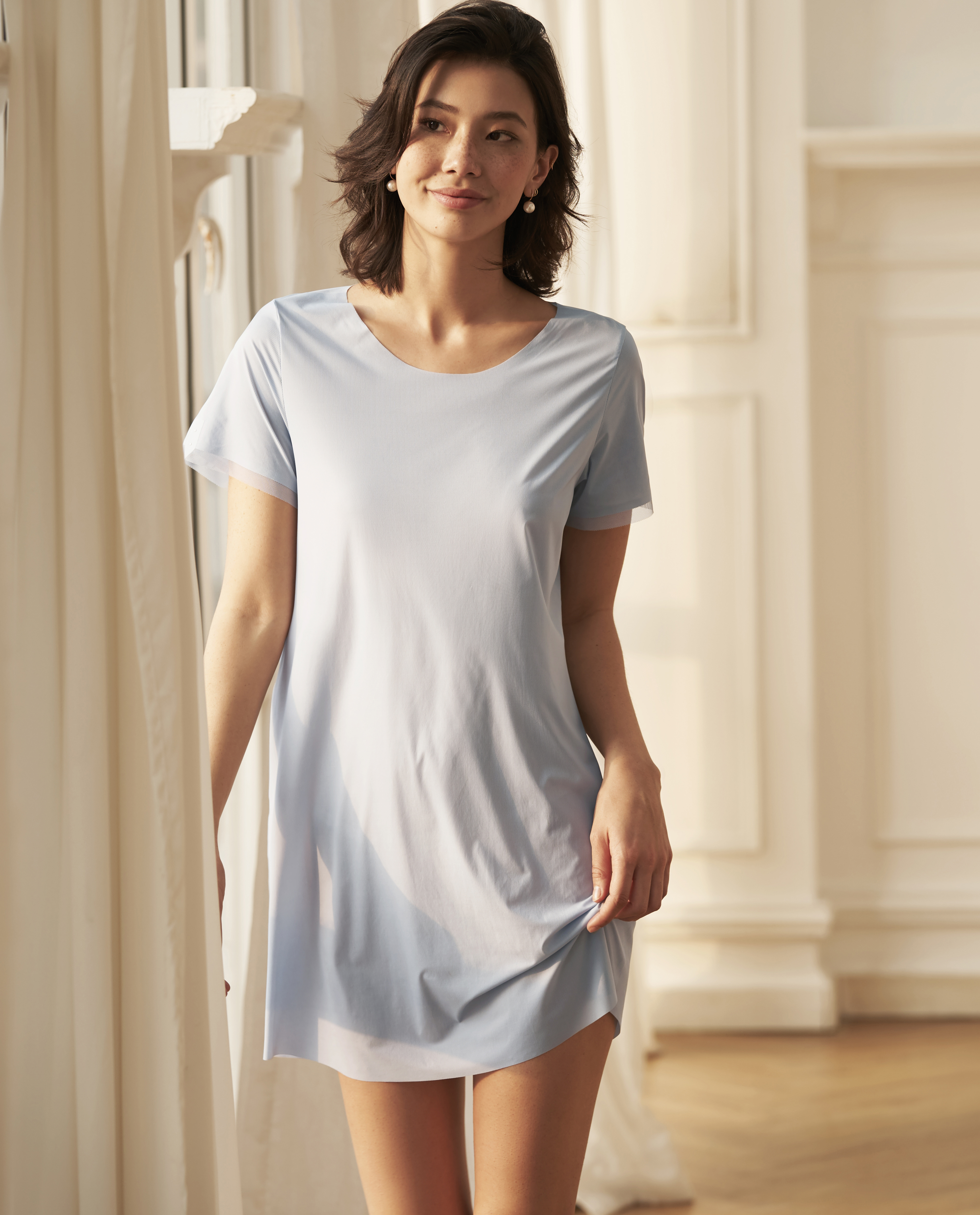 Aimer睡衣|愛慕金沙海岸短袖睡裙AM442491