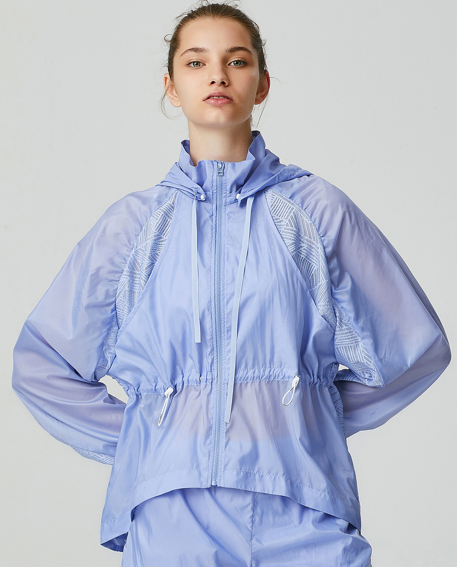 Aimer Sports睡衣|爱慕运动轻松瑜伽带帽拉链短外套AS144G41