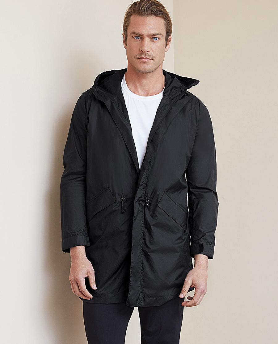 Aimer Men睡衣 ag真人平台先生轻便外套长款拉链风衣NS81B761