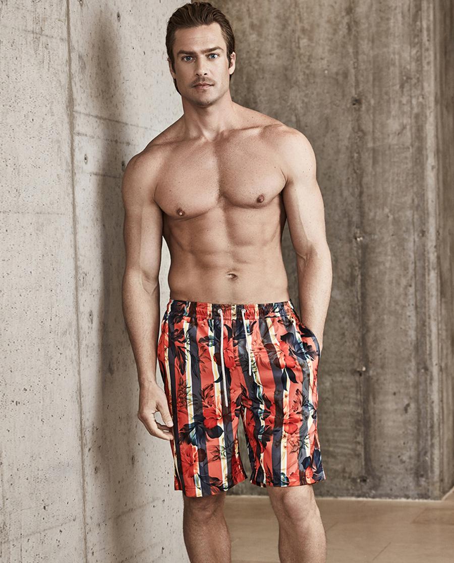 Aimer Men泳衣|ag真人平台先生金标沙滩裤短裤NS66B701