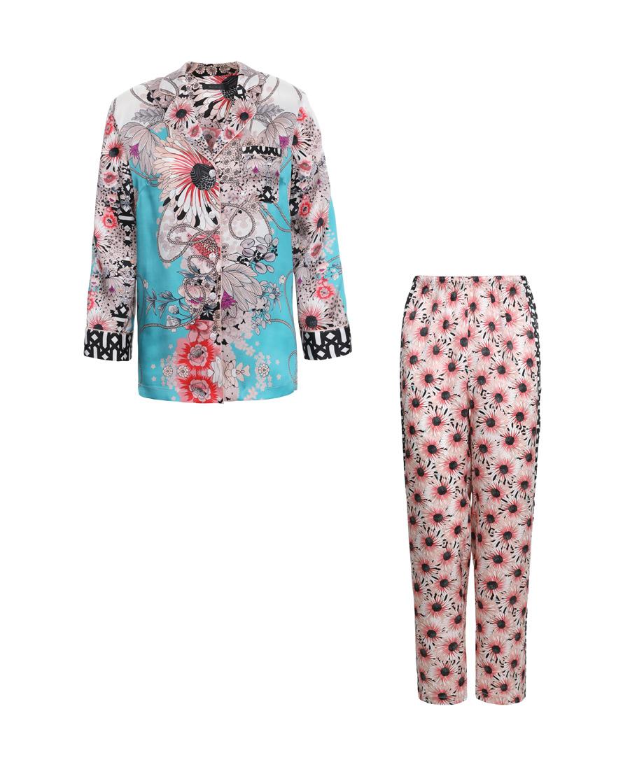 La Clover睡衣|LA CLOVER蘭馨花語系列長袖分身睡