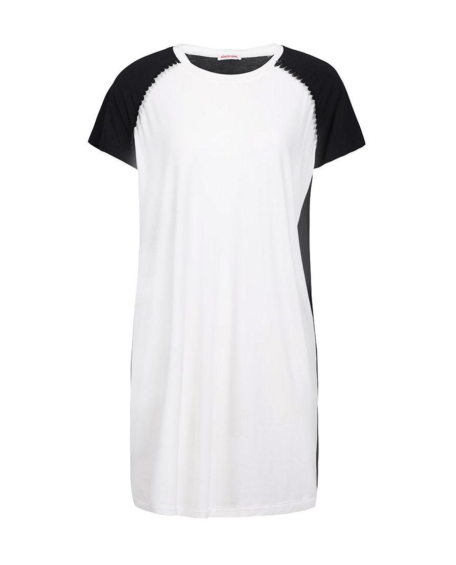 Aimer Home睡衣|爱慕家居柔姿琴享短袖中款防蚊睡裙AH440422