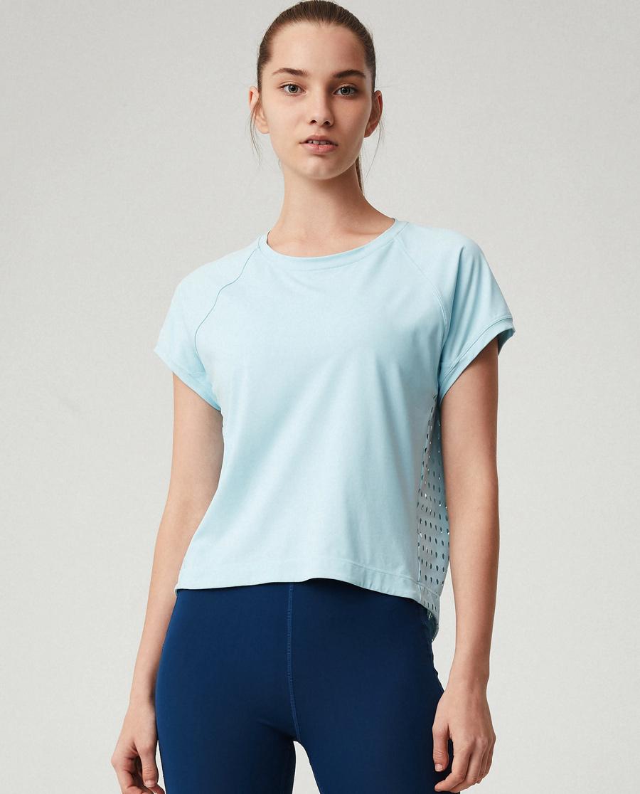 Aimer Sports睡衣|爱慕运动夏练II后背镂空短T恤AS143G61