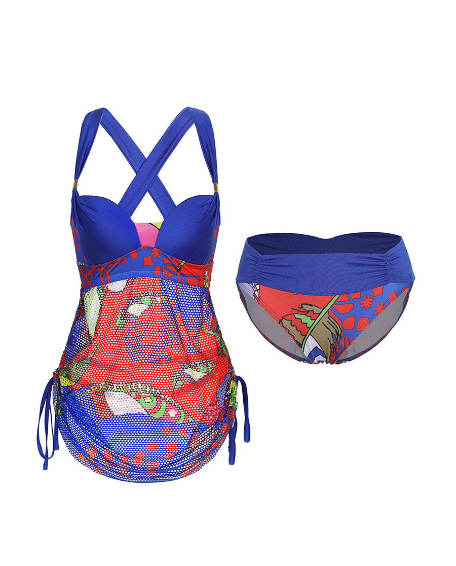 Aimer泳衣|愛慕繽紛羽意裙式分身泳衣AM672872