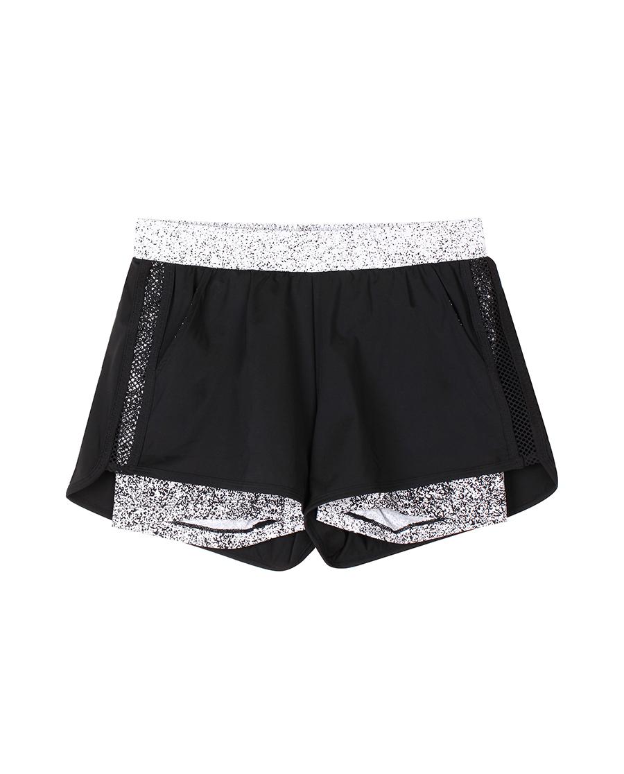 imi's运动装 爱美丽运动星空中腰运动短裤IM64CMK