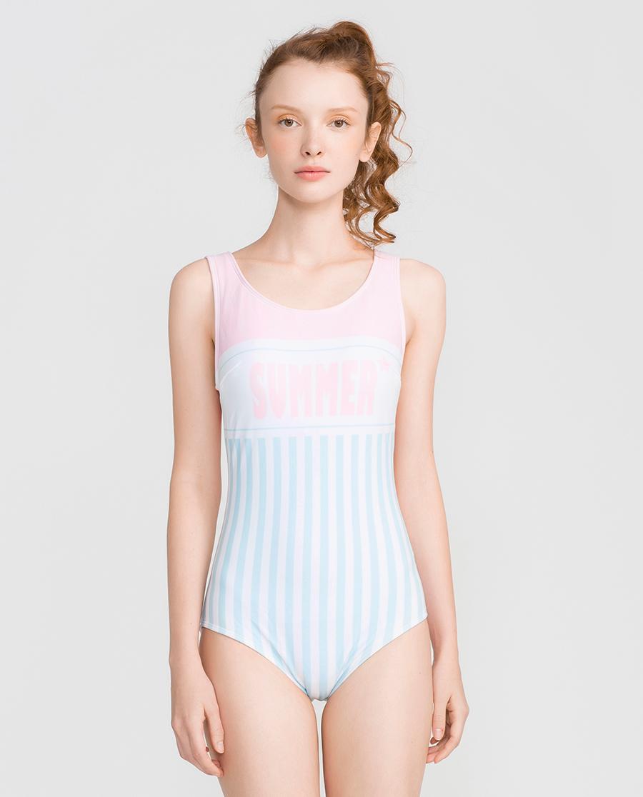 imi's泳衣|爱美丽泳衣少女时代无托连体泳衣IM68C