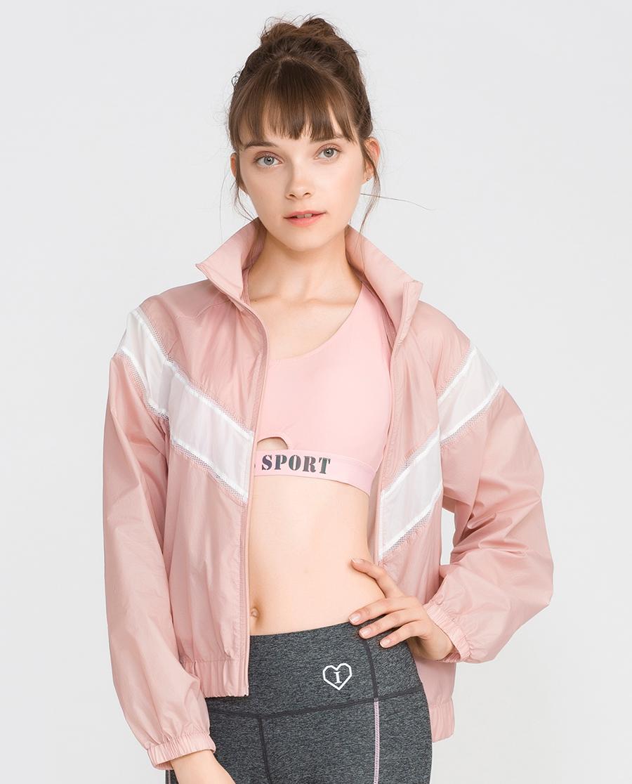 imi's運動裝|愛美麗運動舒享時光拉鏈開衫長袖短款上衣I