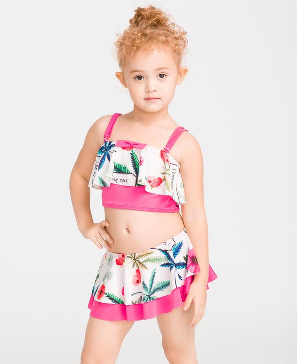 IMIS泳衣|爱美丽泳衣迷失布拉格女童分身两件套泳衣IM67BMW2