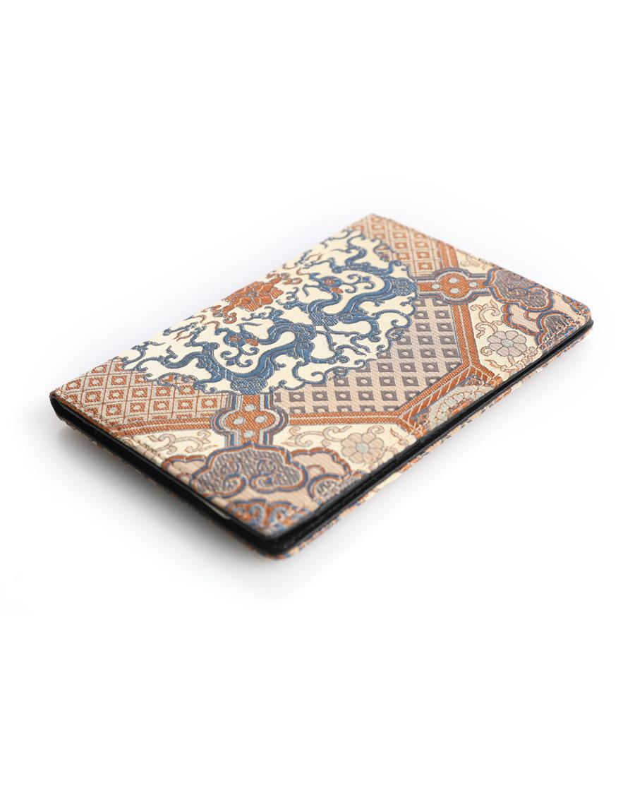 皇錦配飾|皇錦織錦加皮護照夾-夔龍八大運HJ334