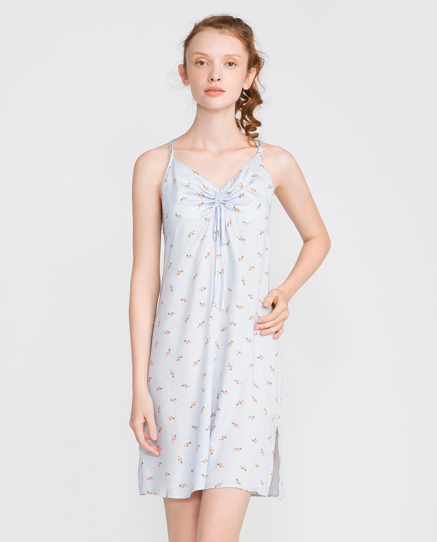 IMIS睡衣|爱美丽家居淡彩玫瑰园吊带睡裙IM42ASP1