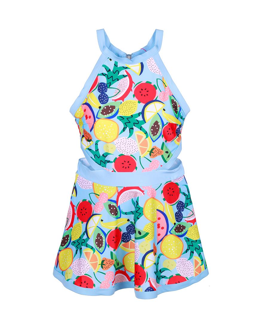 imi's泳衣|爱美丽泳衣水果沙拉无托肚兜裙式连体泳衣I