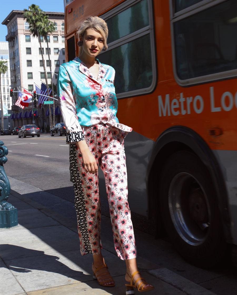 La Clover睡衣|LA CLOVER兰馨花语系列长袖分身睡衣LC46HS1