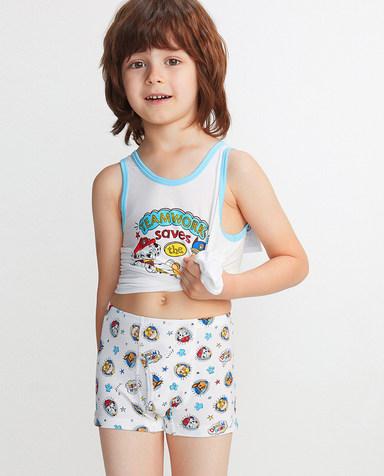 Aimer Kids内裤|爱慕儿童天使小裤MODAL汪汪队欢乐狗勋章中腰平角裤AK2231912