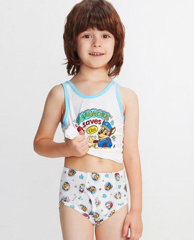 Aimer Kids内裤|爱慕儿童天使小裤MODAL汪汪队欢乐狗勋章中腰三角裤AK2221912