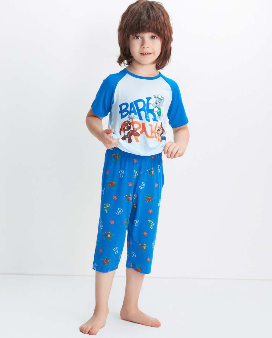 Aimer Kids睡衣 爱慕儿童汪汪队狗狗乐园七分裤AK2422371