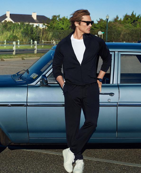 Aimer Men运动装|爱慕先生酷感运动立领拼接拉链长袖上衣NS62B722
