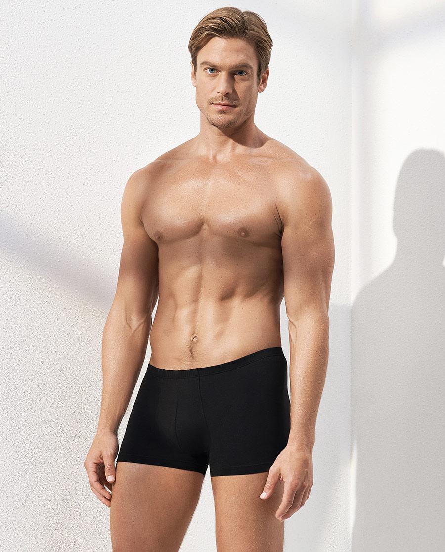 Aimer Men内裤 爱慕先生自然棉中腰平角内裤两件包NS23